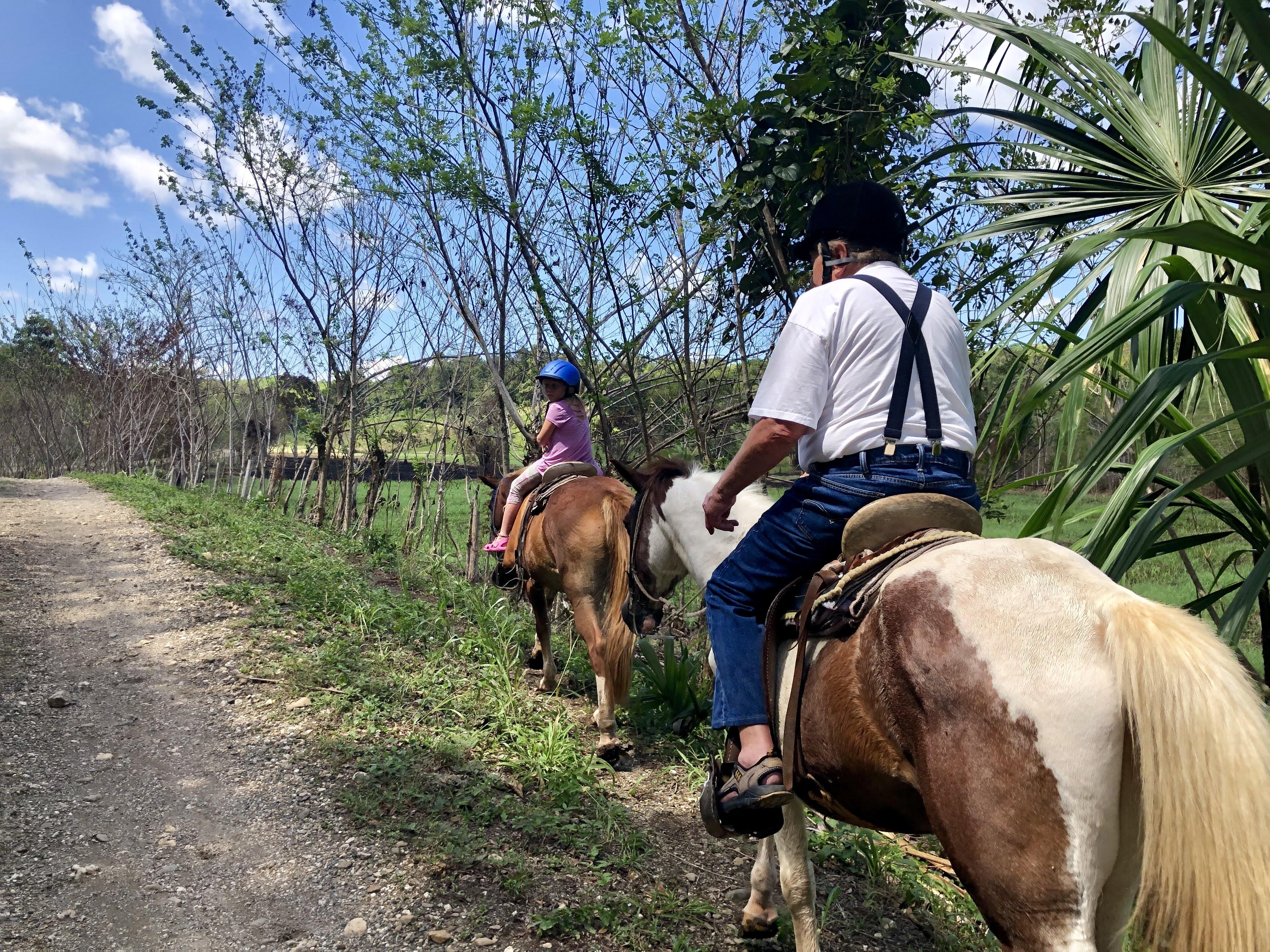 Lo and Grampsy horseback riding