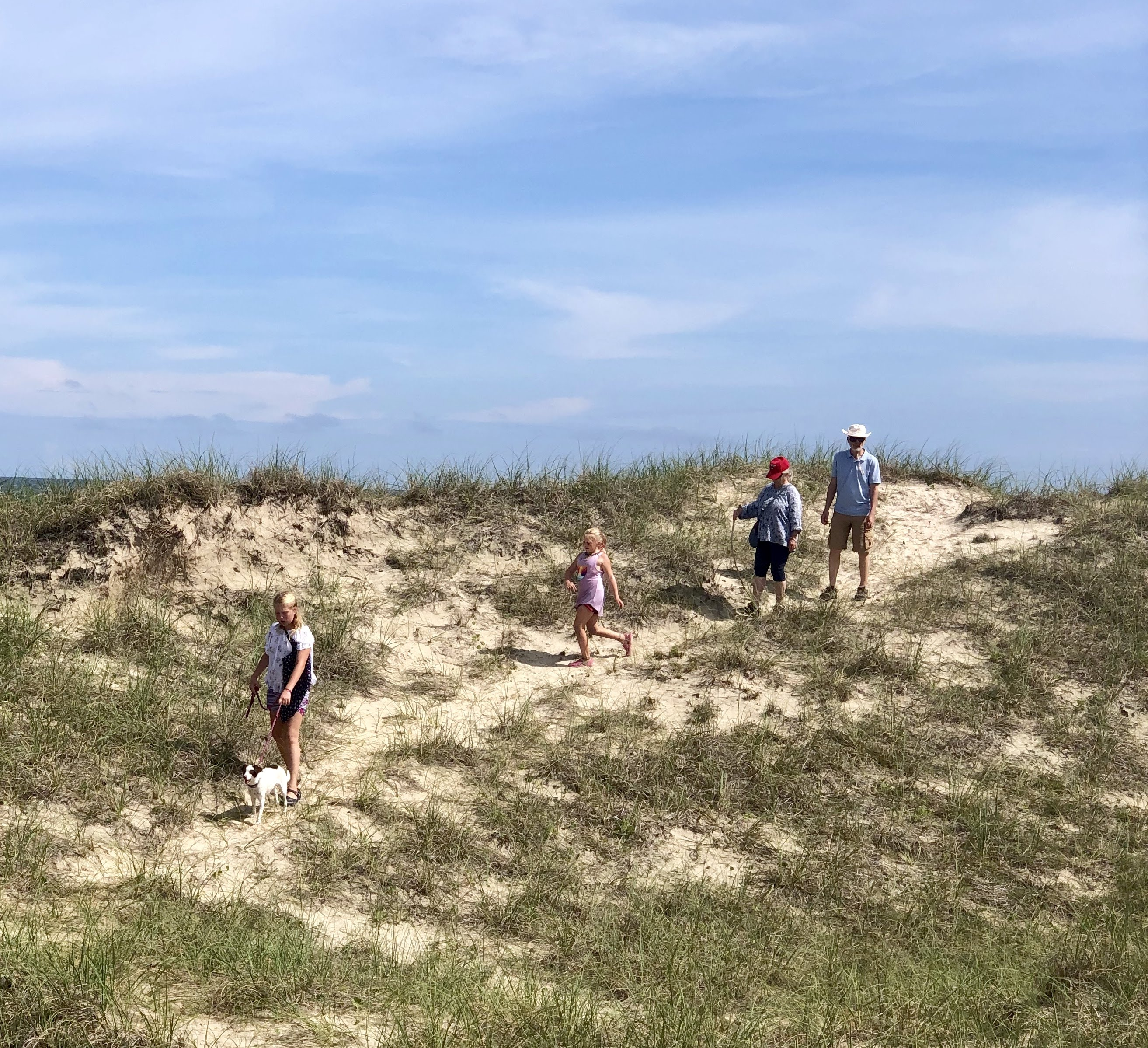 hiking the dunes