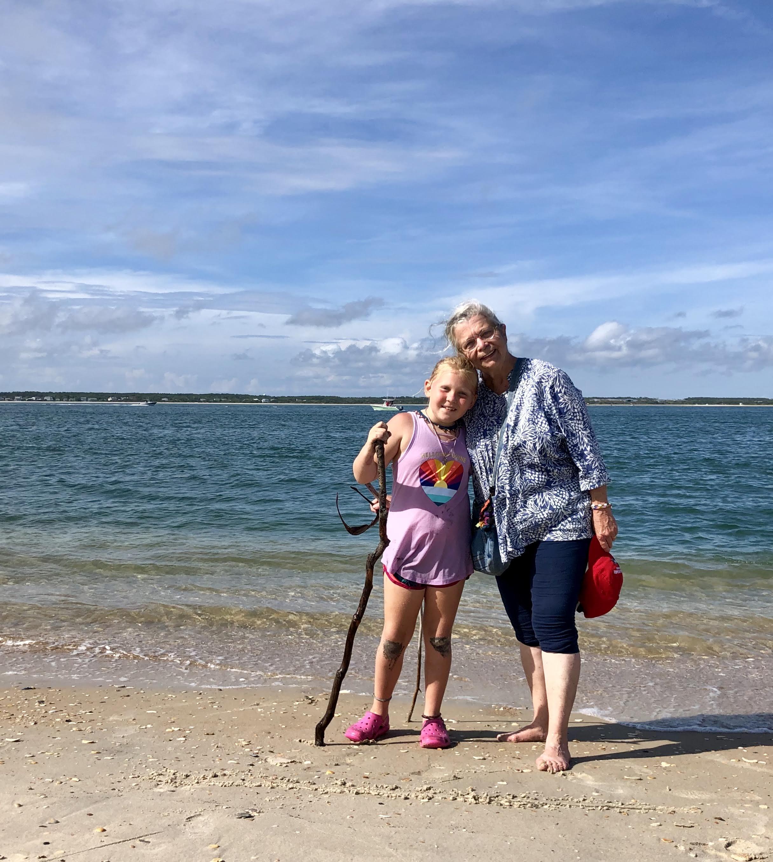 GranMiri and Lo on the beach