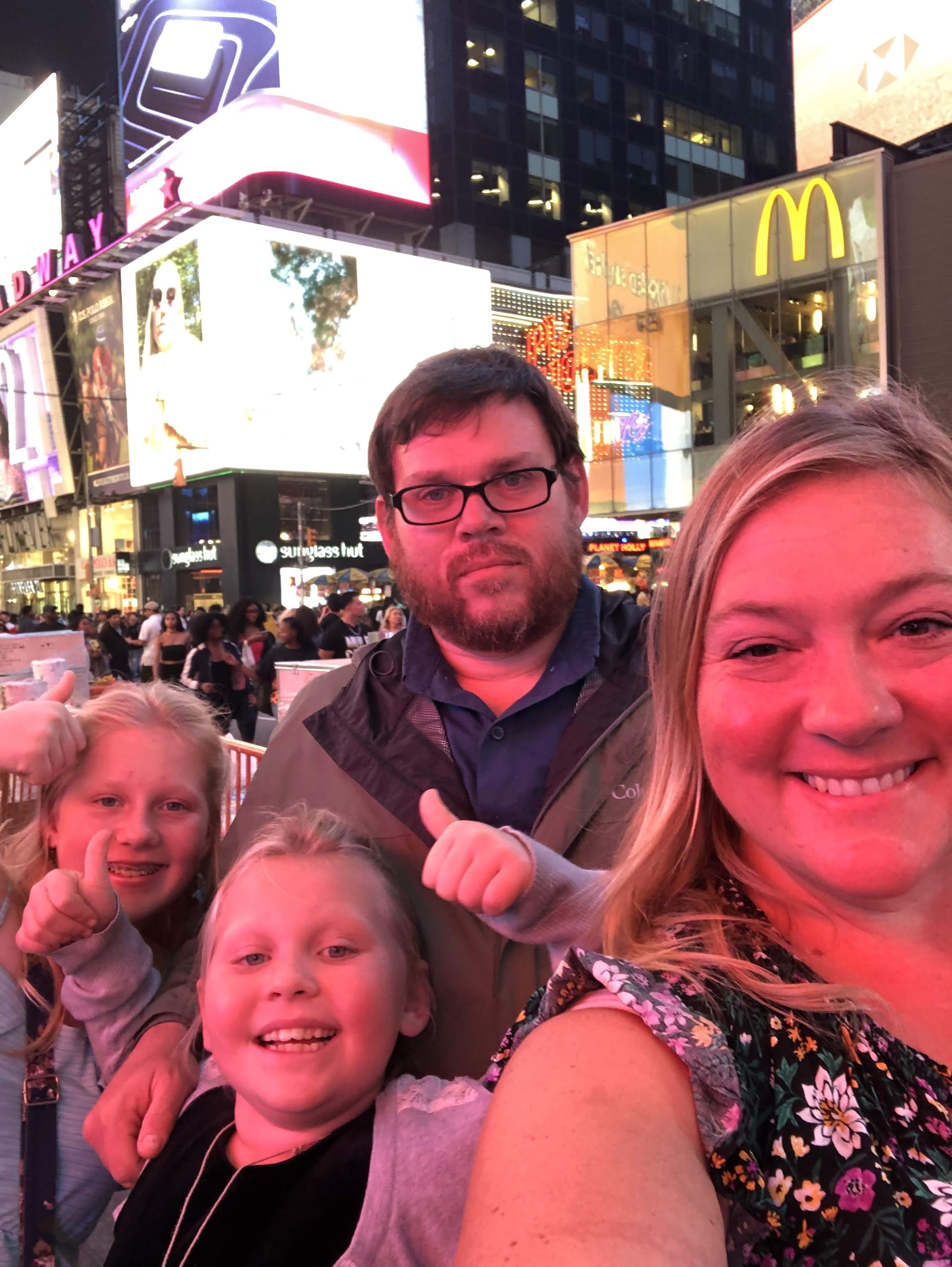 Times Square family