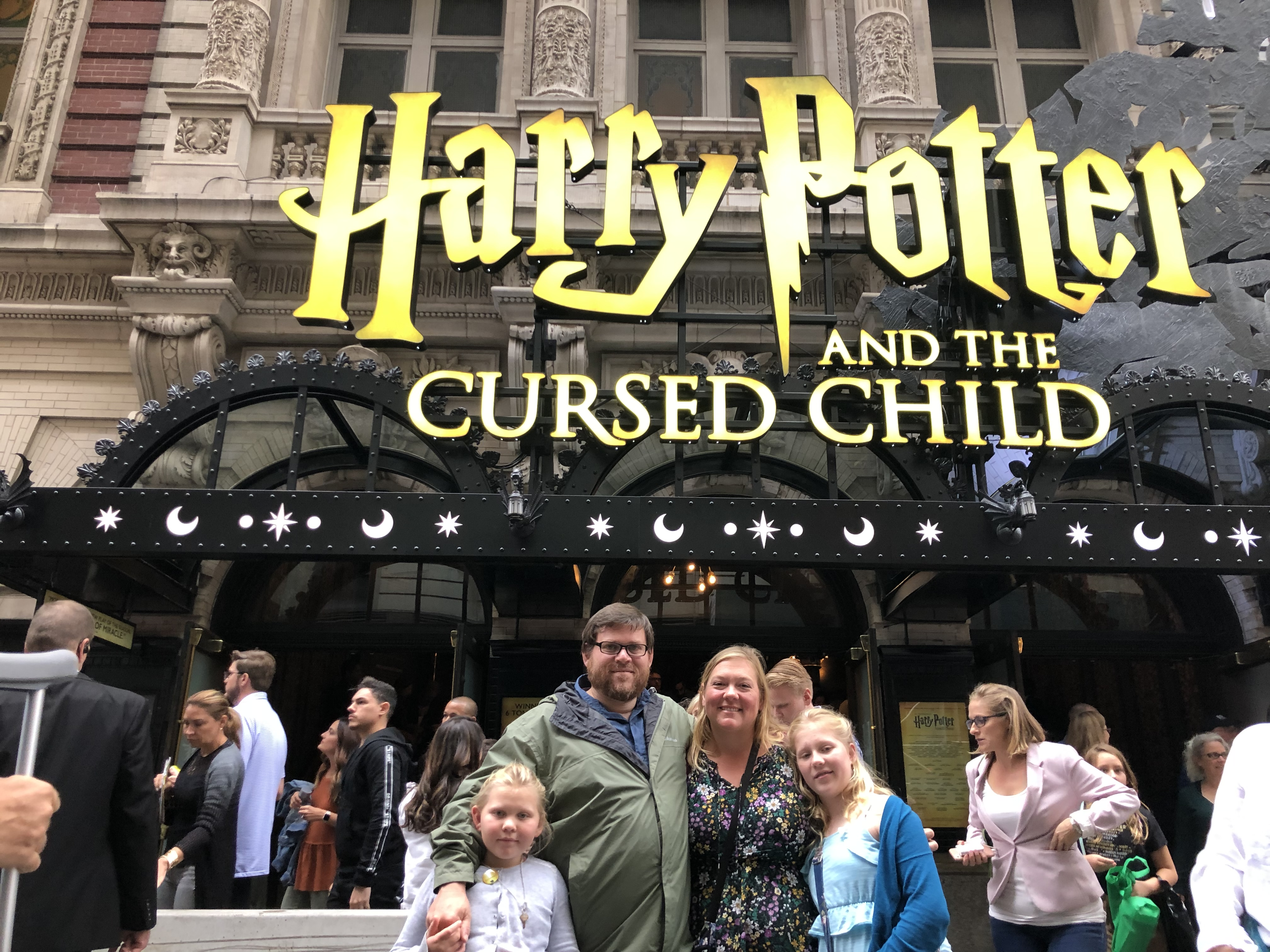 outside Harry Potter and the Cursed Child