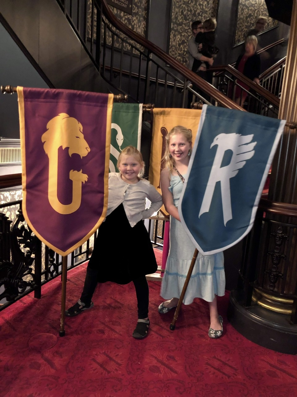 With their house flags