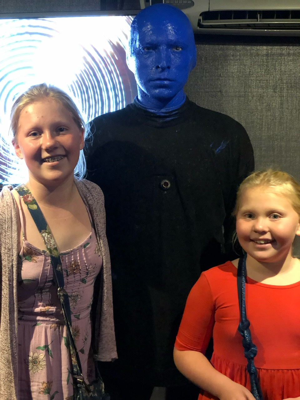 with a blueman
