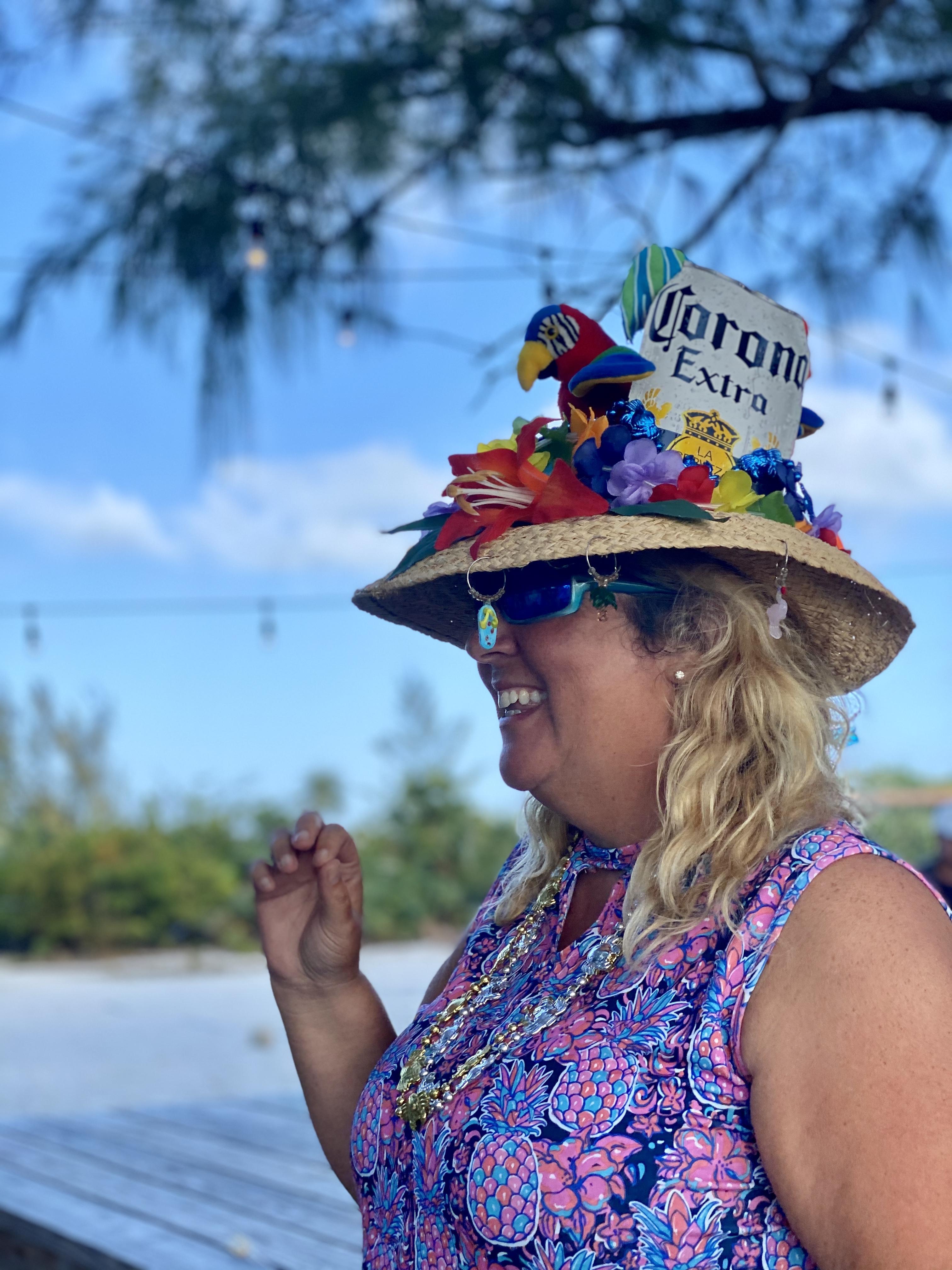 Ms. Andrea's winning hat