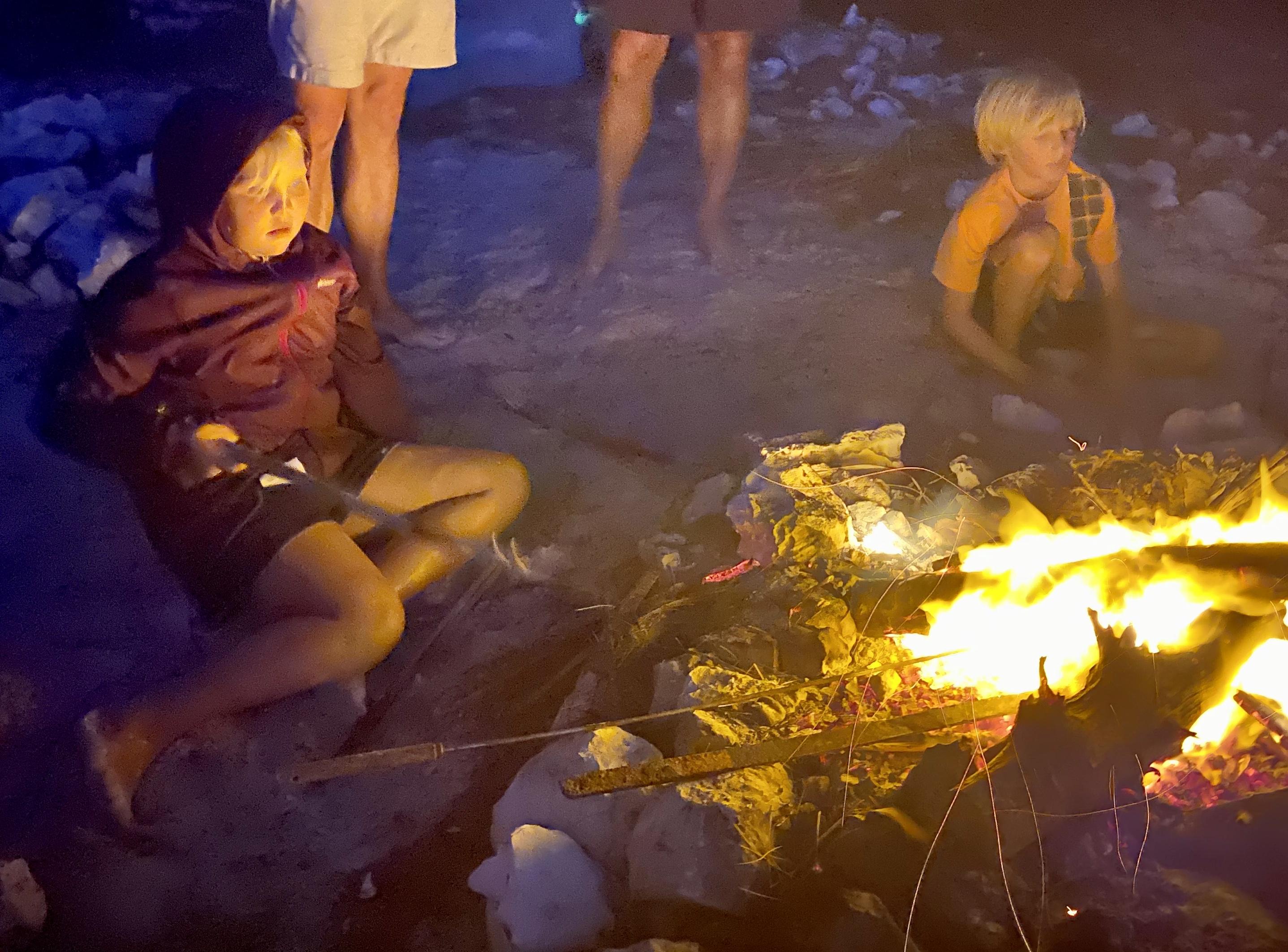 Lorelei roasting smores