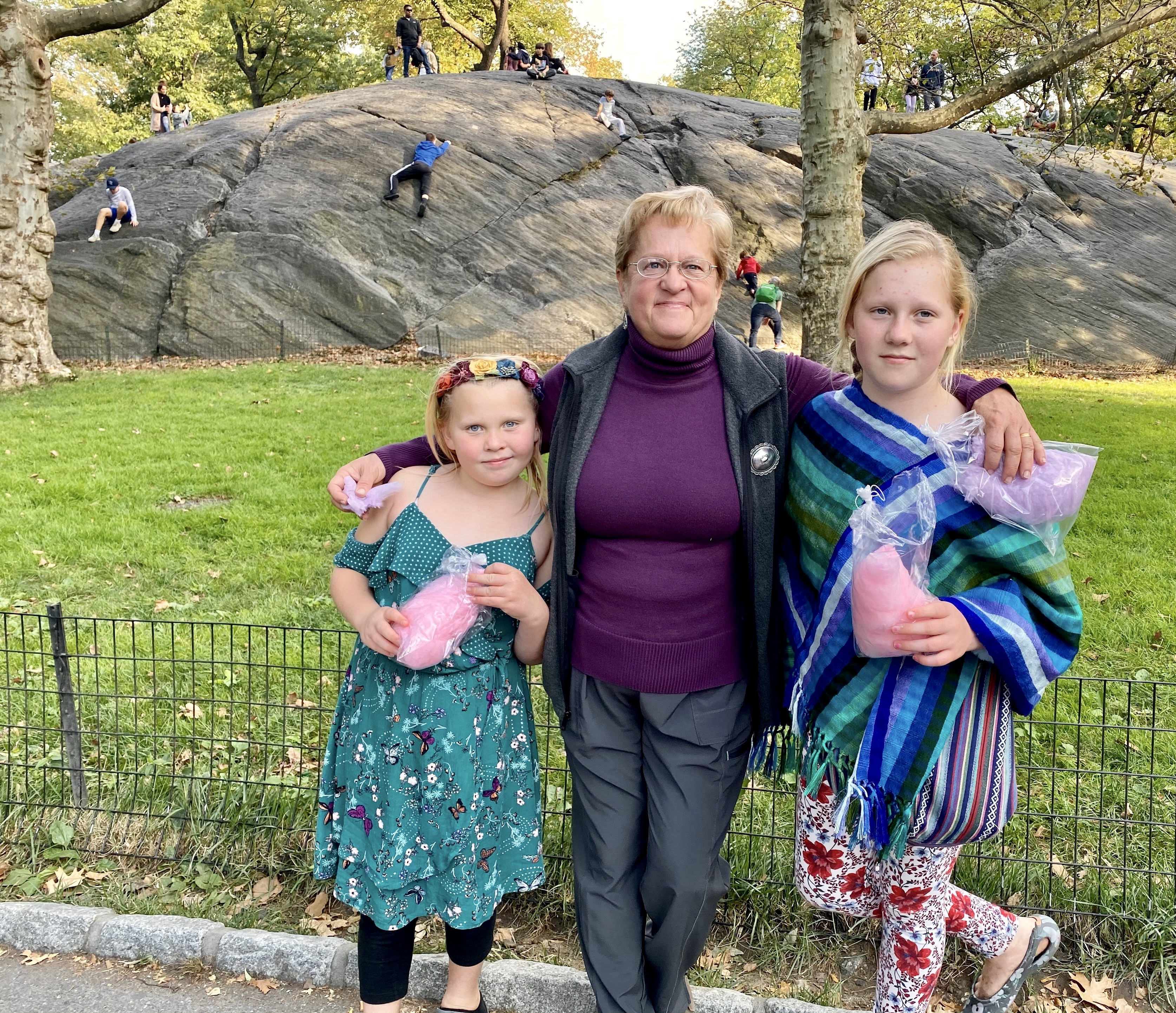 Central Park with Aunt Amy