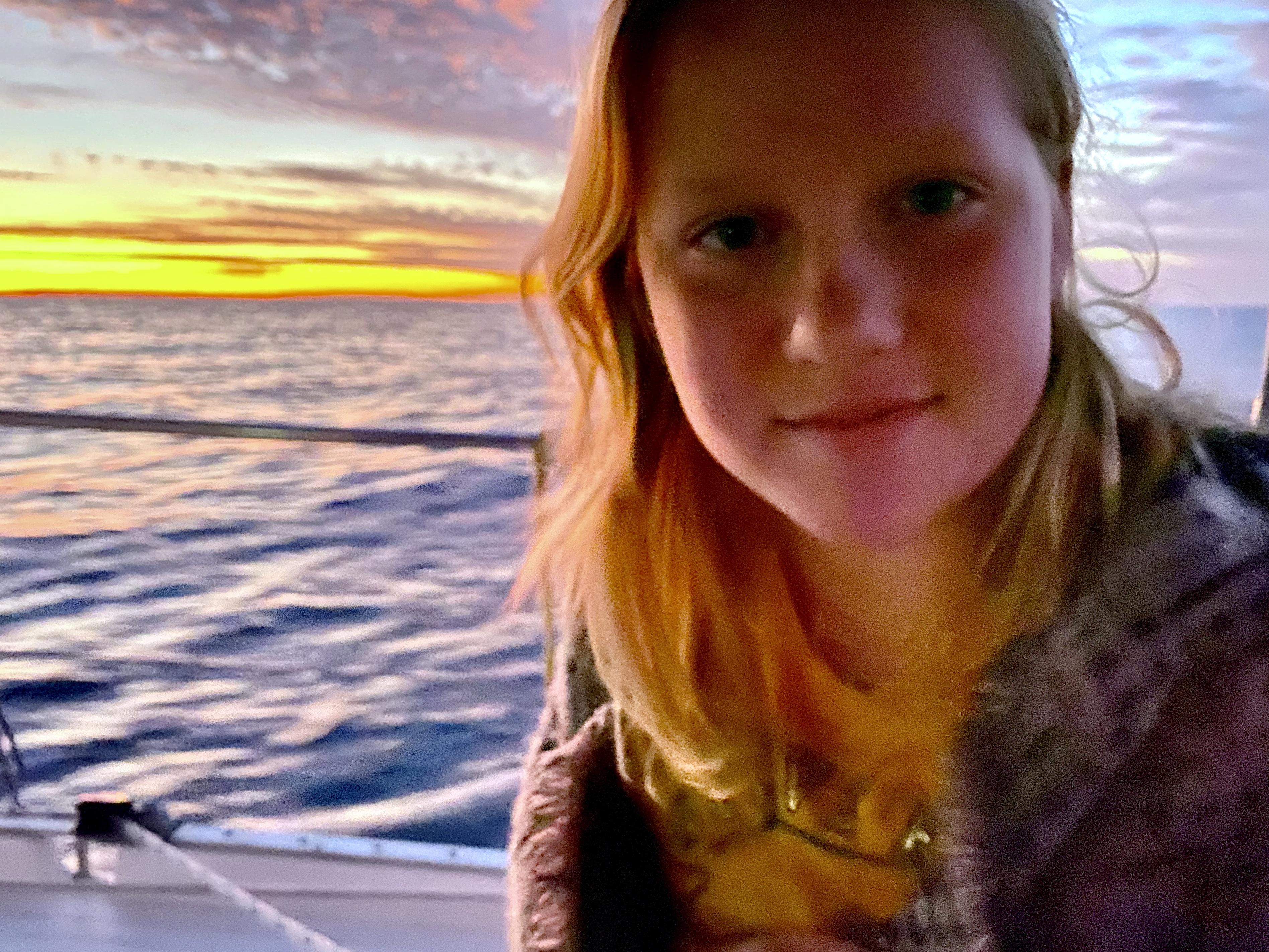 Audrey at sea