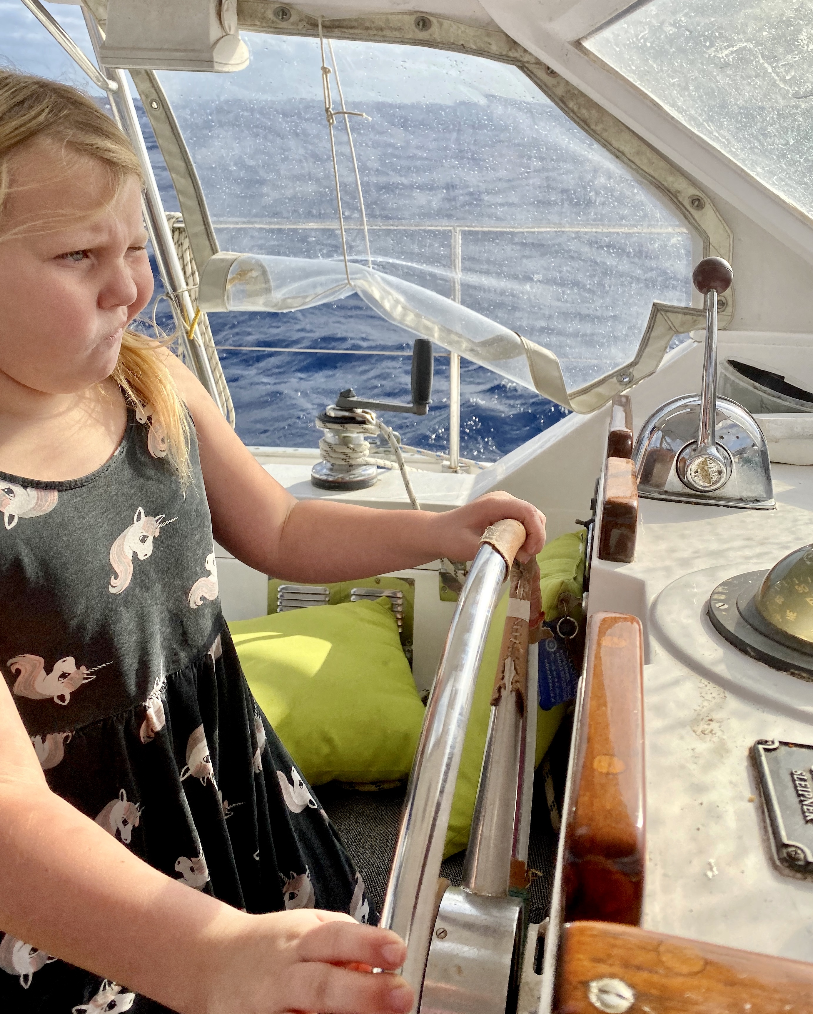 Lorelei at the helm