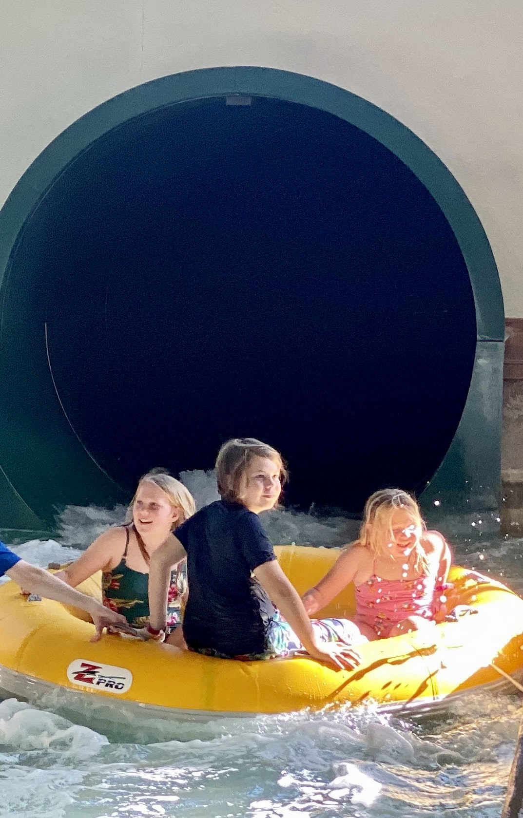 tubing with Aiden at GWL