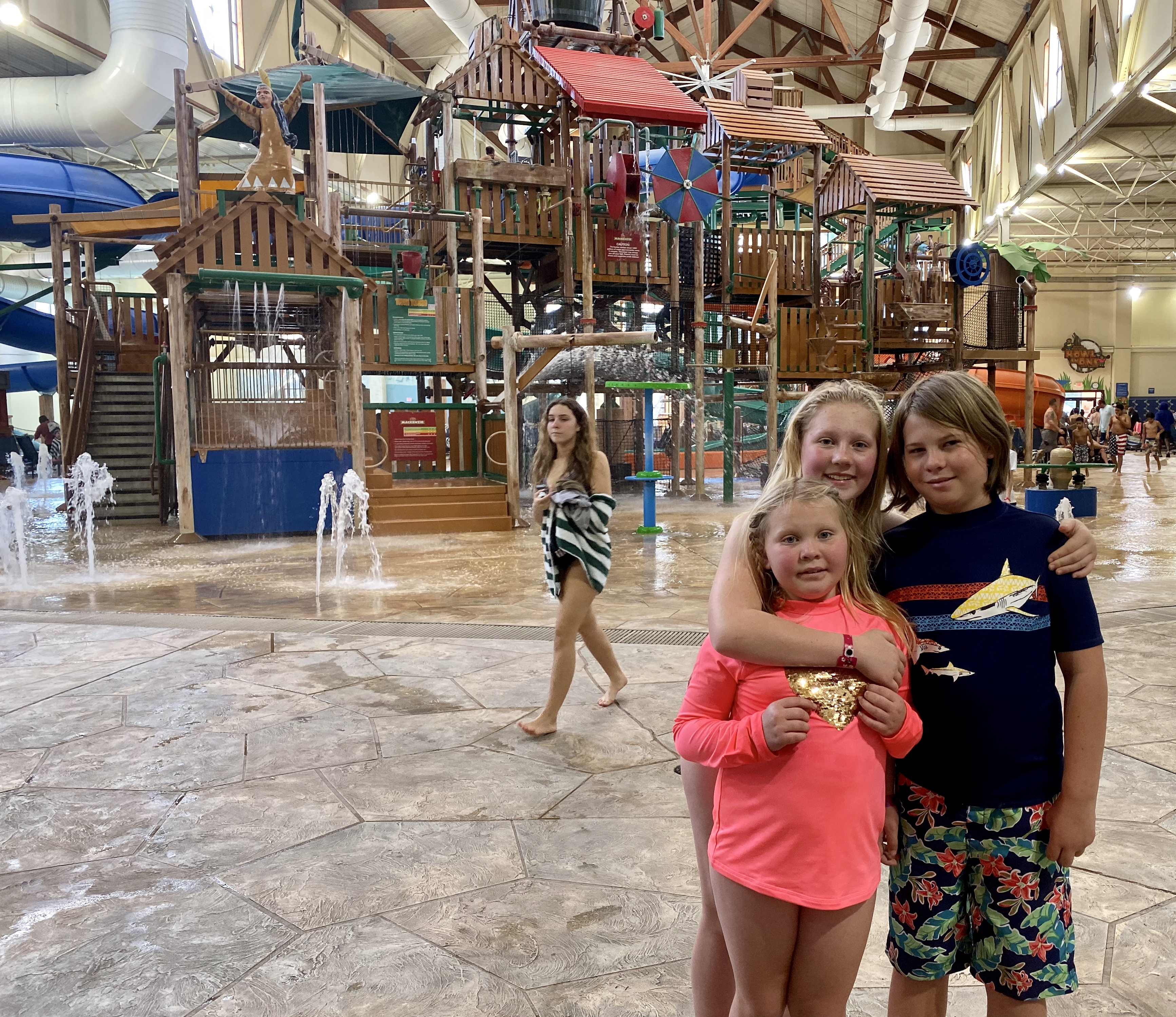 birthday party at Great Wolf Lodge