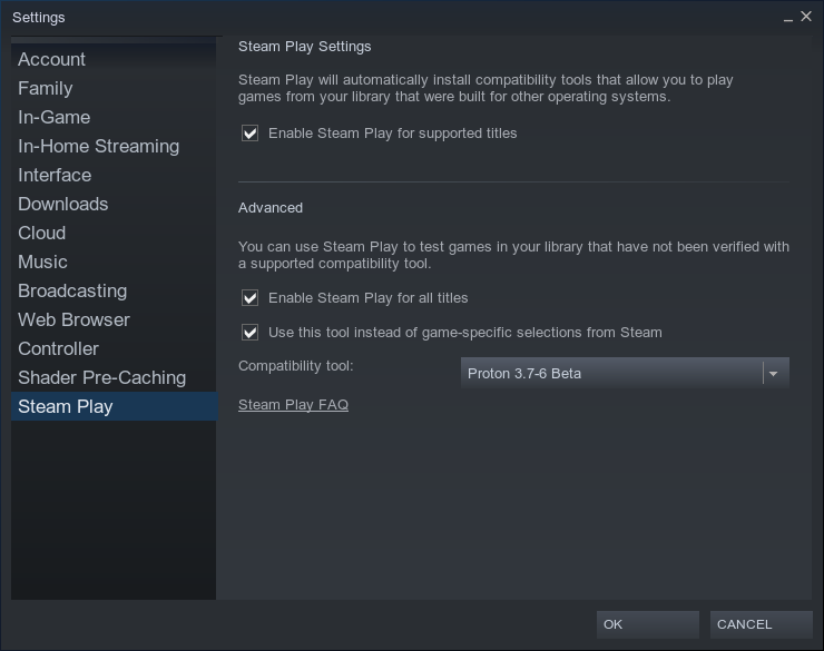 Steam Play don't launch any games · Issue #1402 · ValveSoftware