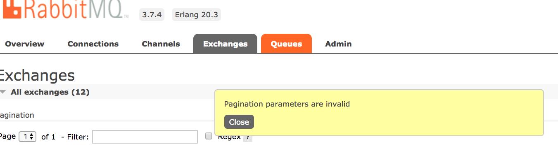 Regex filter bad request · Issue #581 · rabbitmq/rabbitmq-management
