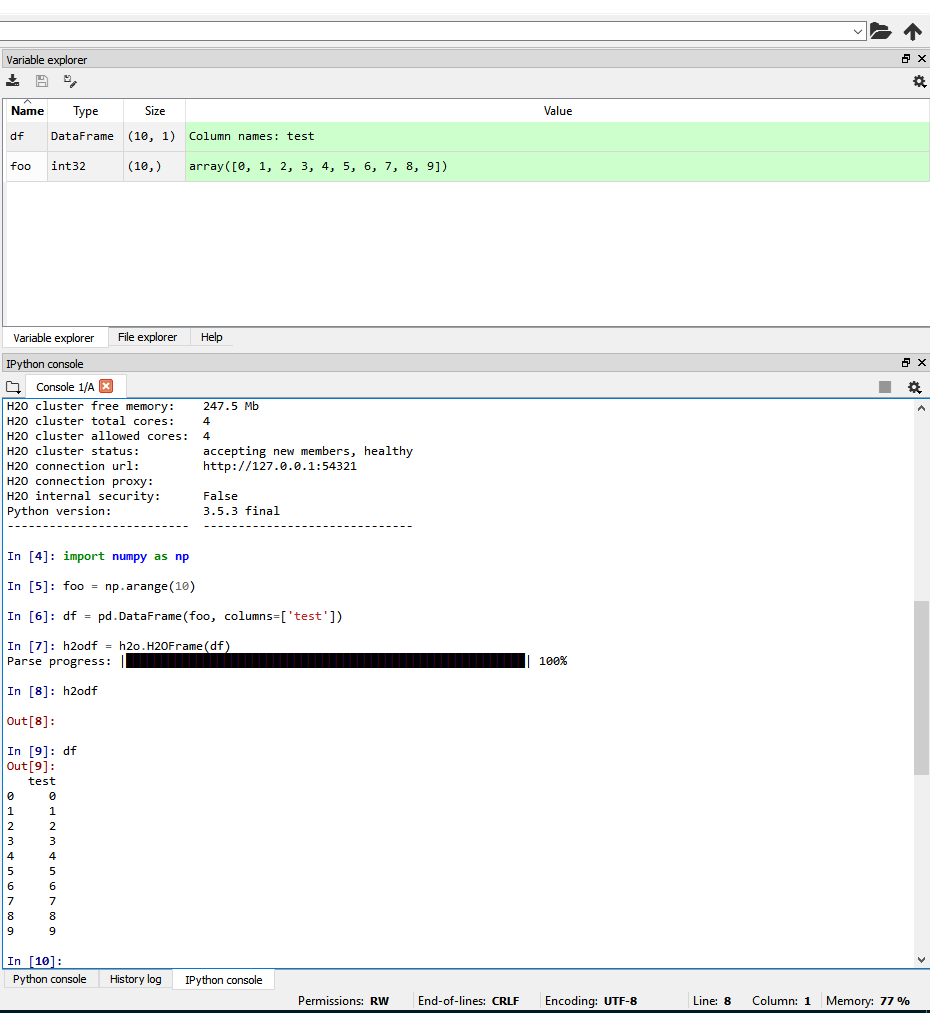 Spyder ipython could not show H2O dataframe · Issue #4714