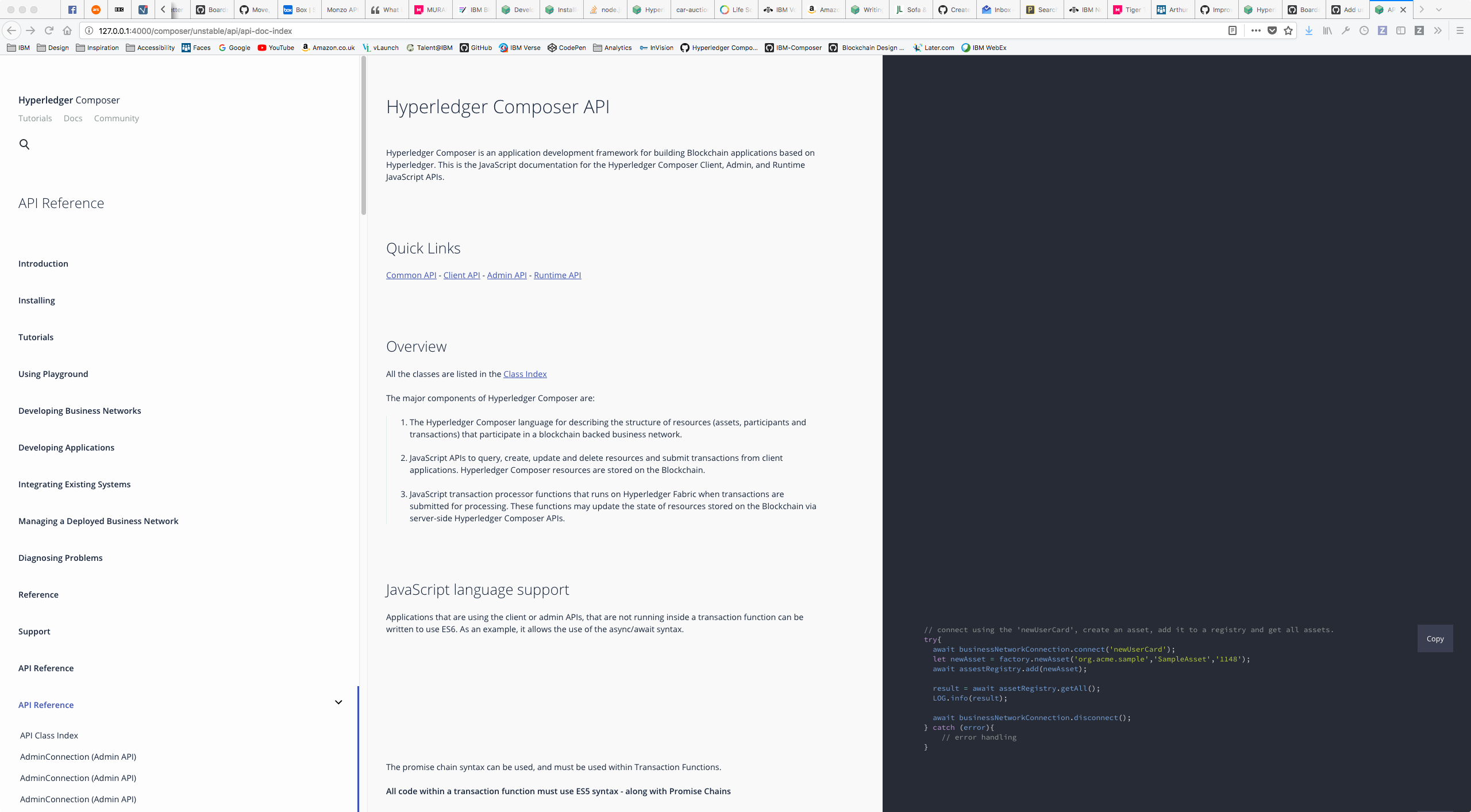 Restructure the API documentation so it is easier to understand