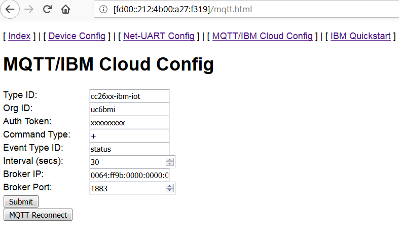 Failure to run cc26xx-web-demo MQTT publish to IBM Watson