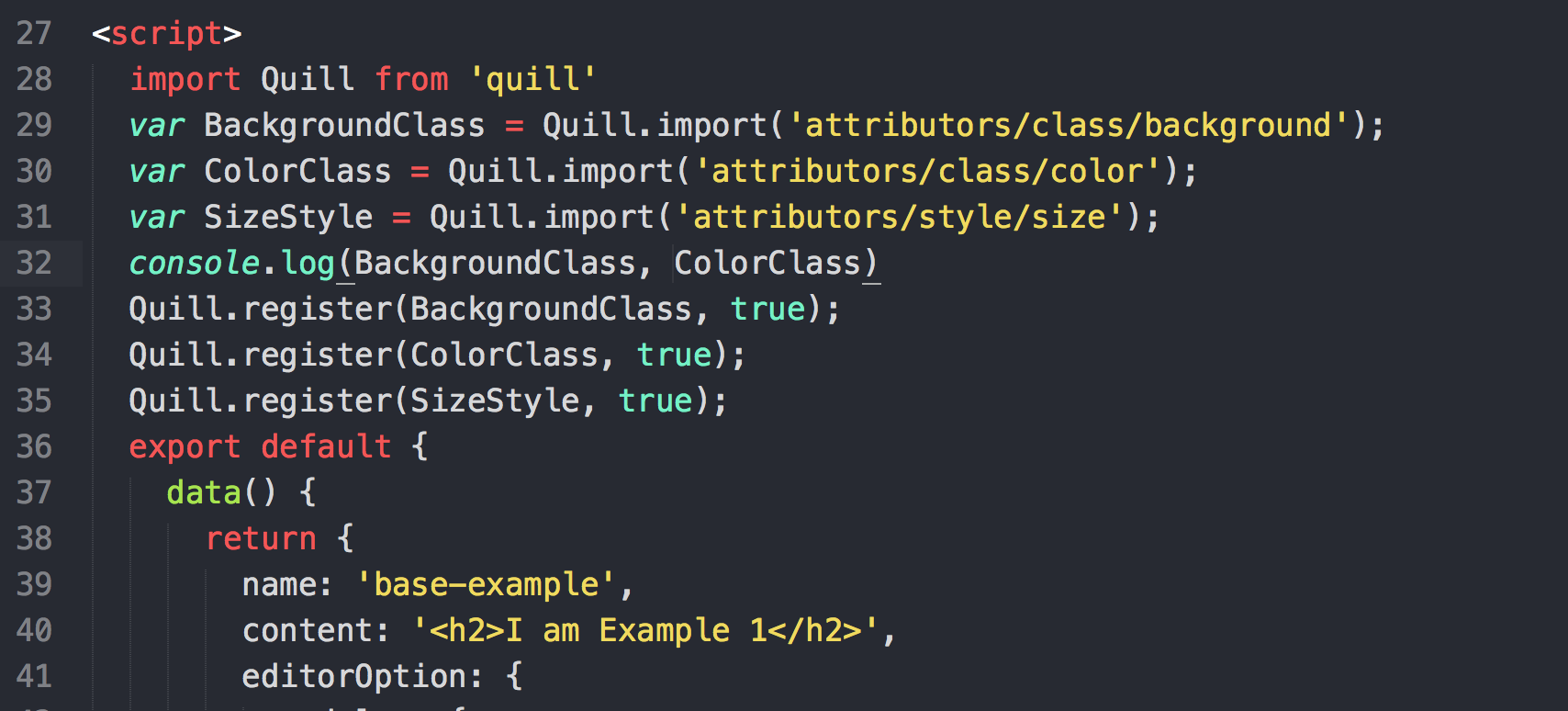 About use inline style! · Issue #64 · surmon-china/vue-quill