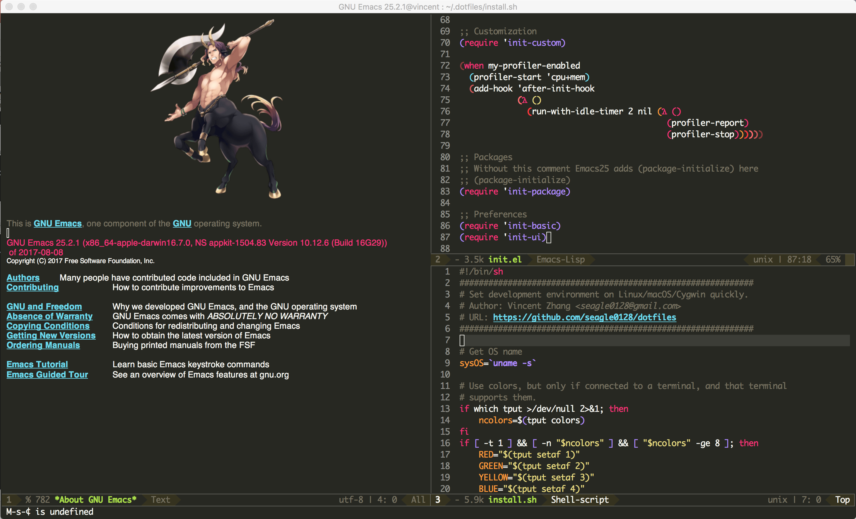 Start Terminal Emacs