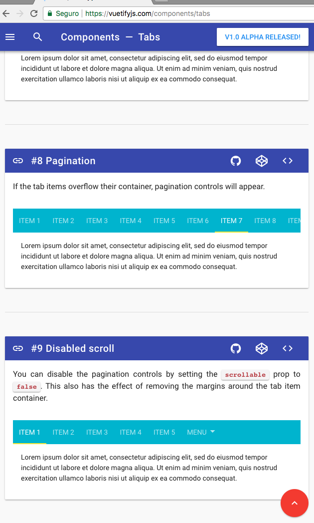 Missing pagination controls on tabs · Issue #2749