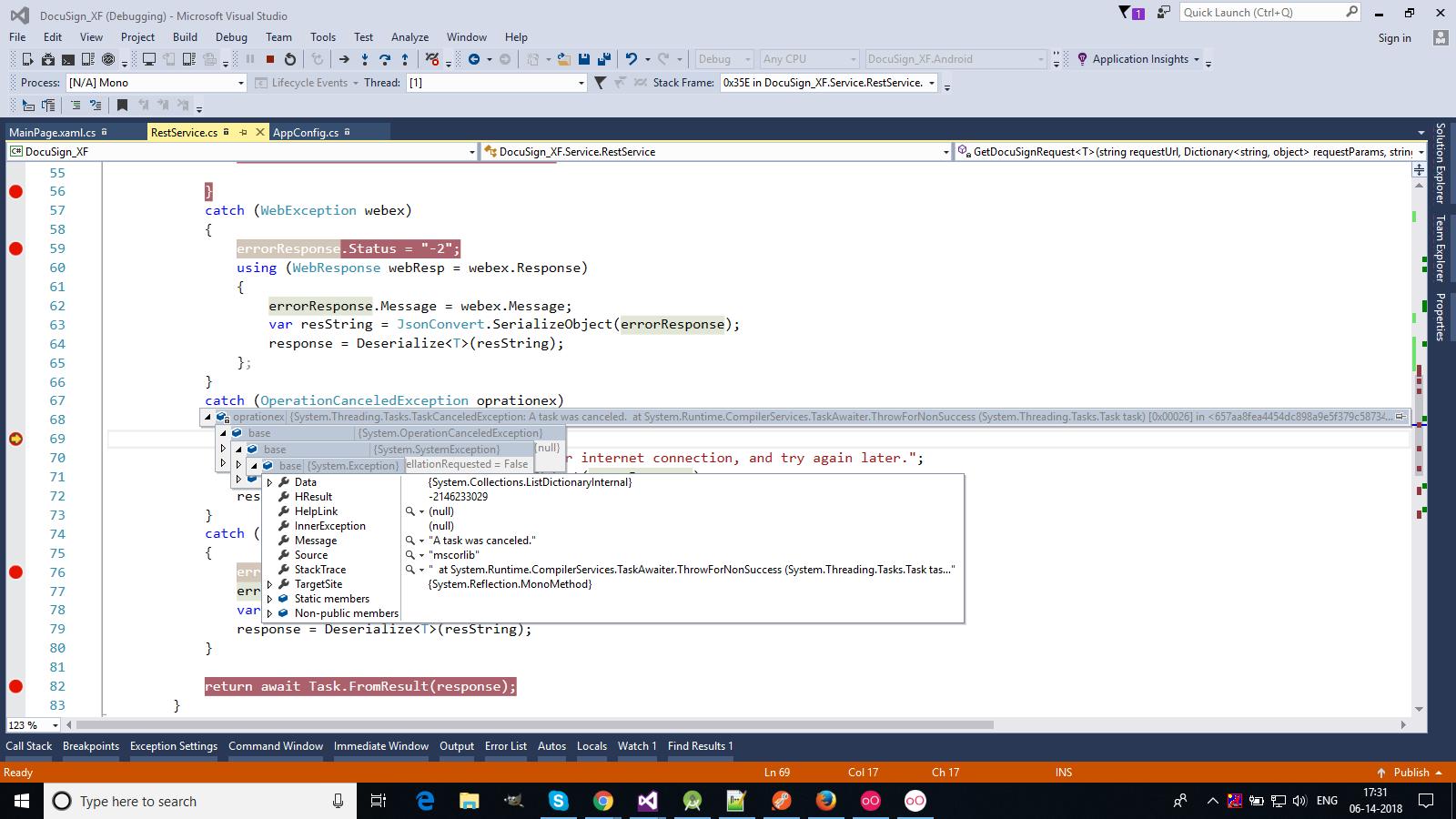 DocuSing API return content-type exception · Issue #8 · docusign