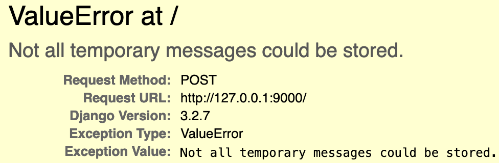 too large of a messages message error