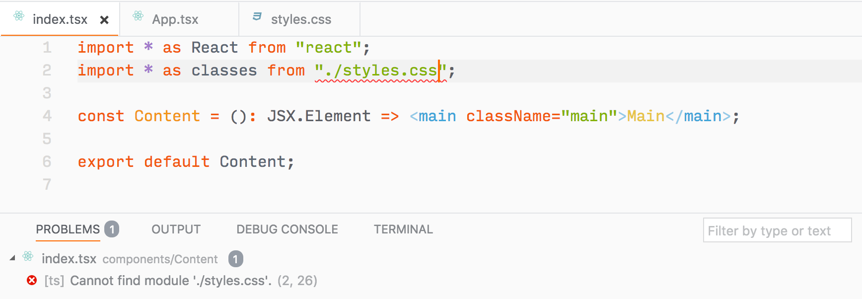 Can't use typescript with css modules · Issue #616 · parcel-bundler