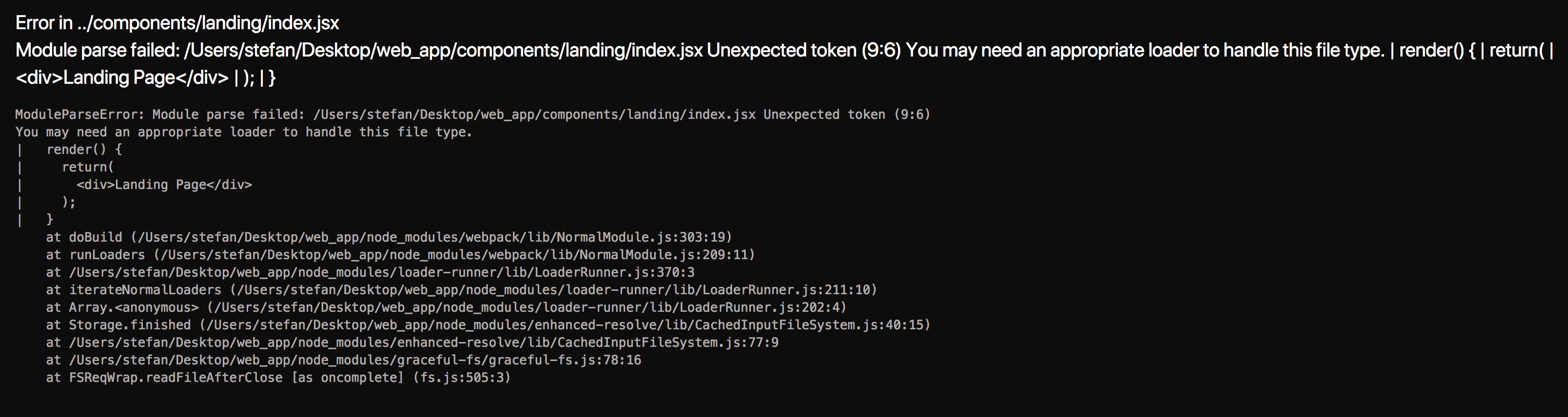 Can not load JSX files via custom .babelrc configuartion · Issue