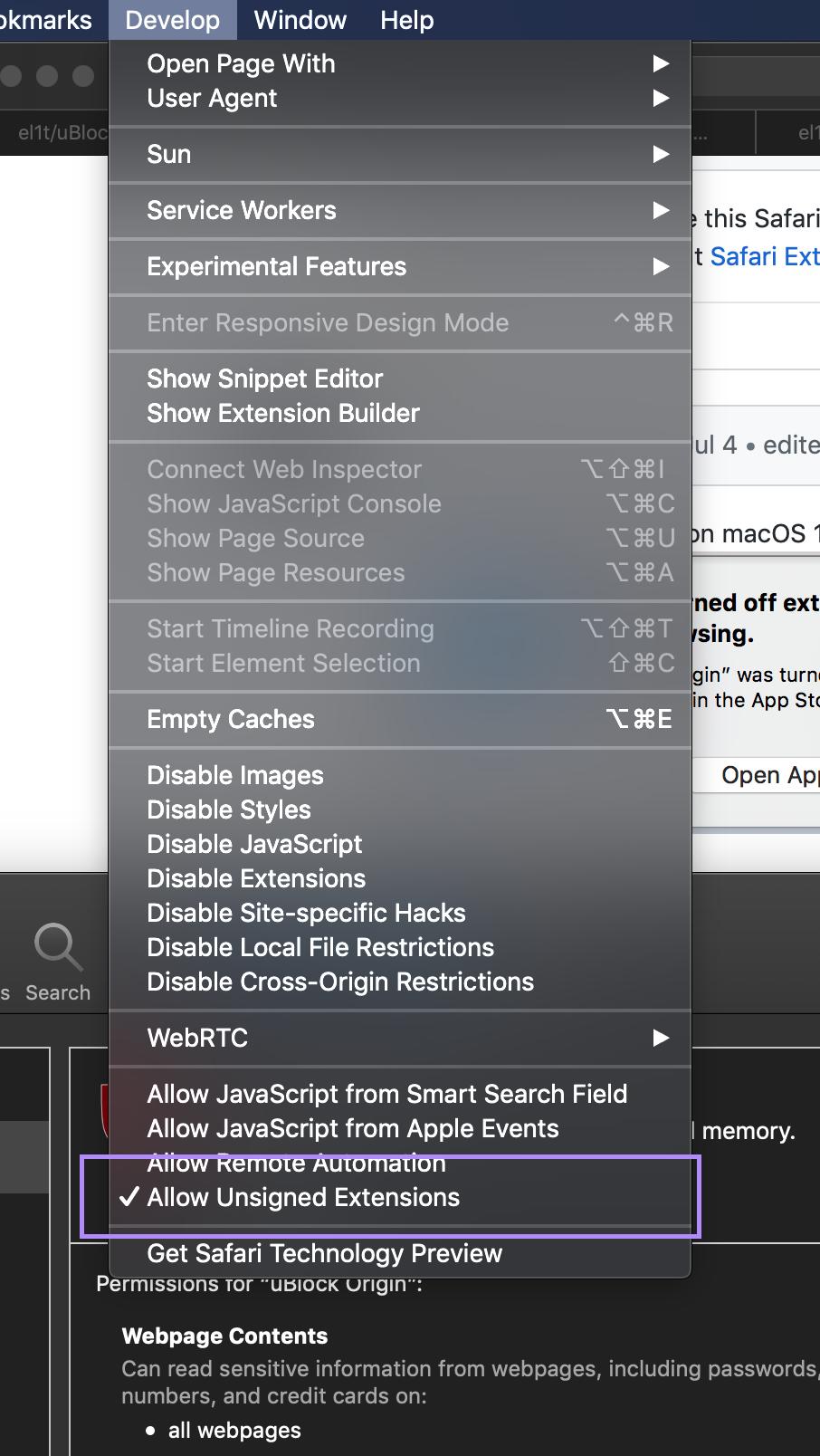 Move to Safari App Extensions model · Issue #124 · el1t