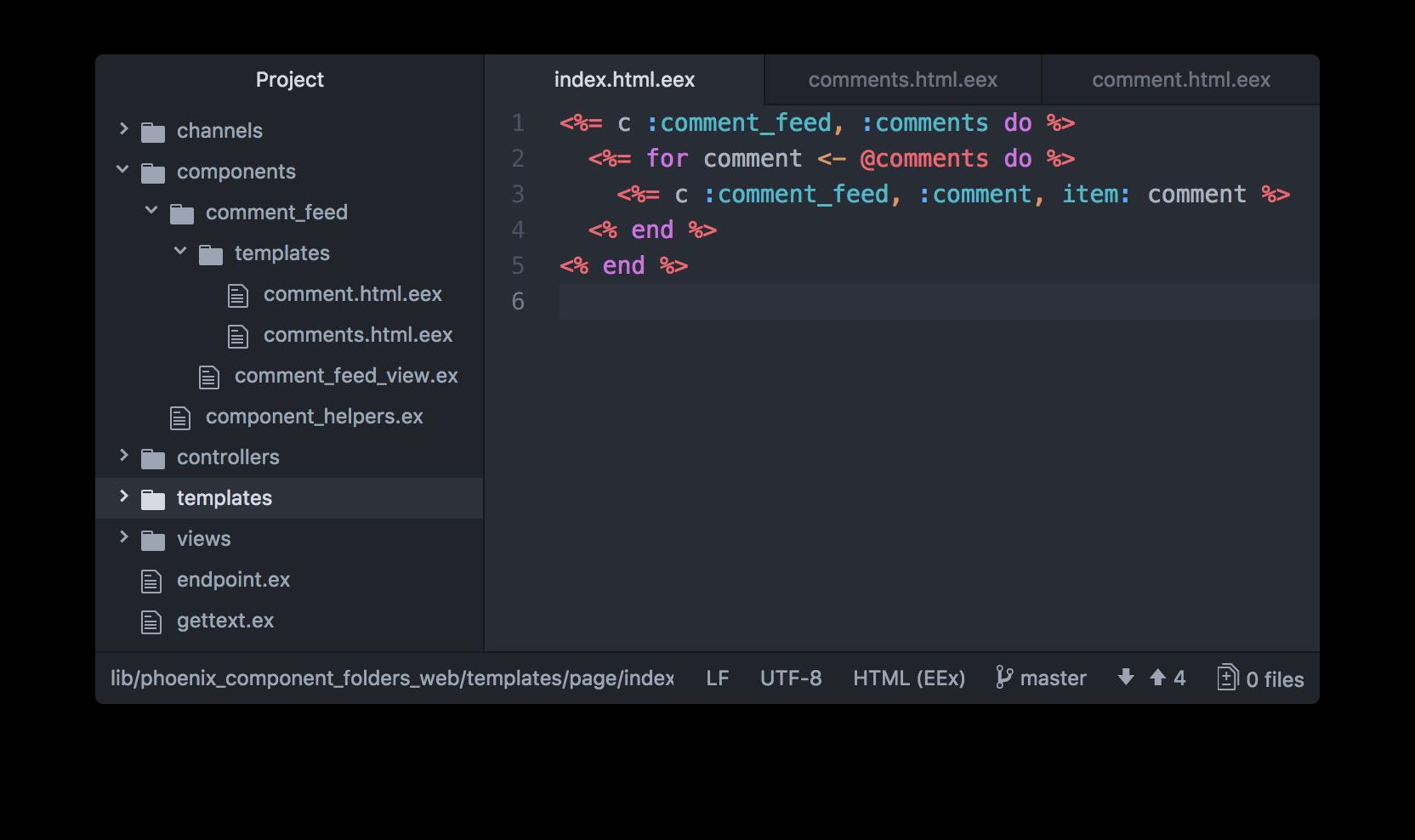 Phoenix Component Folders Screenshot