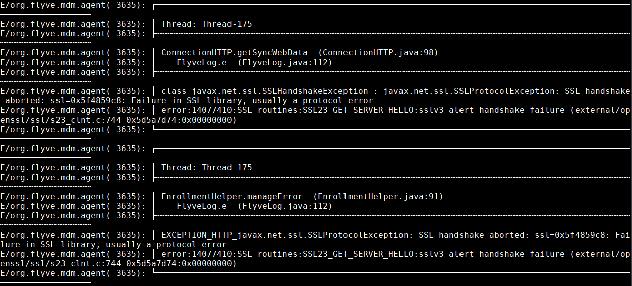 SSL Handshake issue with RC6 · Issue #650 · flyve-mdm/android-mdm