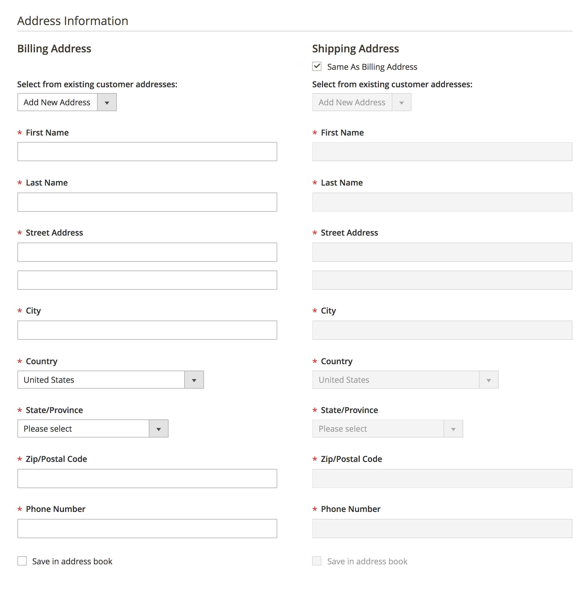 Magento Admin order creation