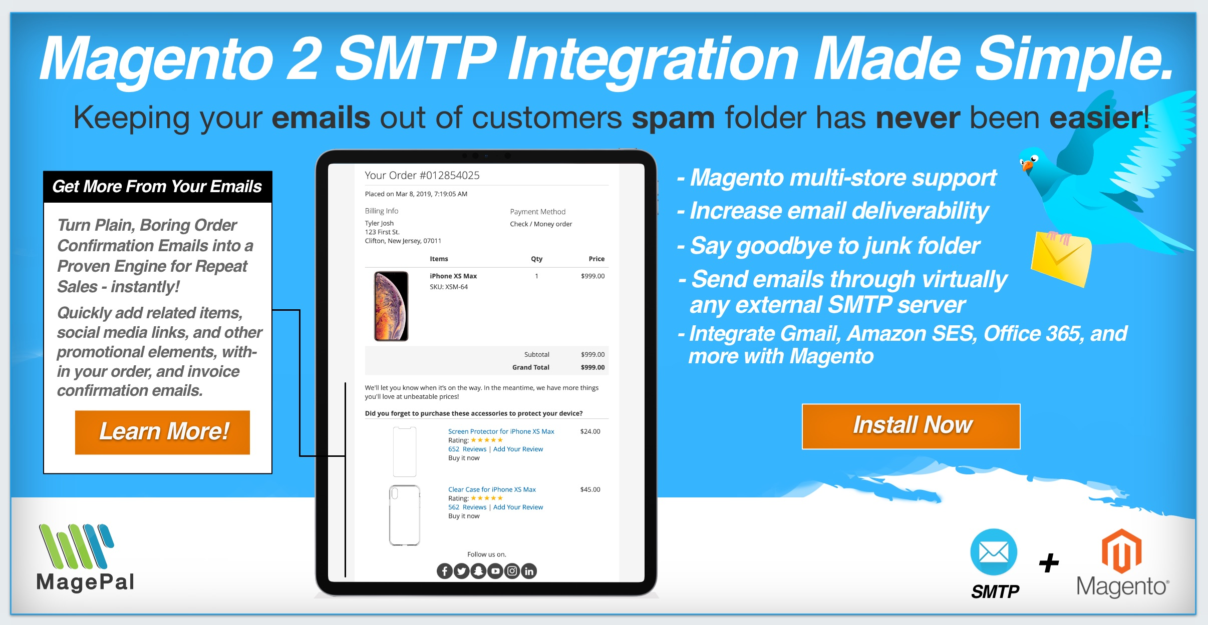 Magento SMTP Extension
