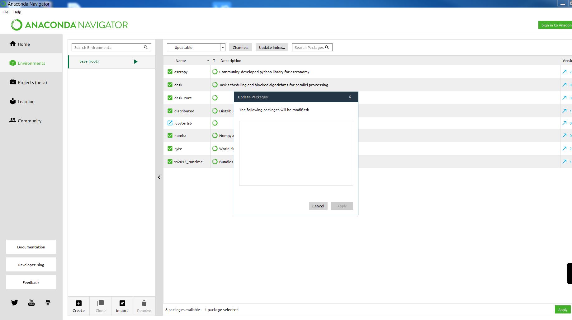 Anaconda navigator install package from github | Anaconda