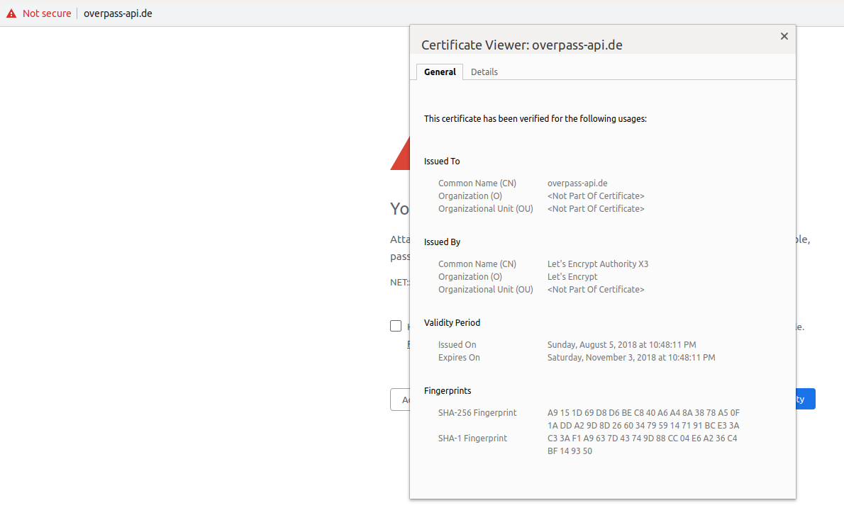SSL in API is failing (expired certs) · Issue #515 · drolbr/Overpass