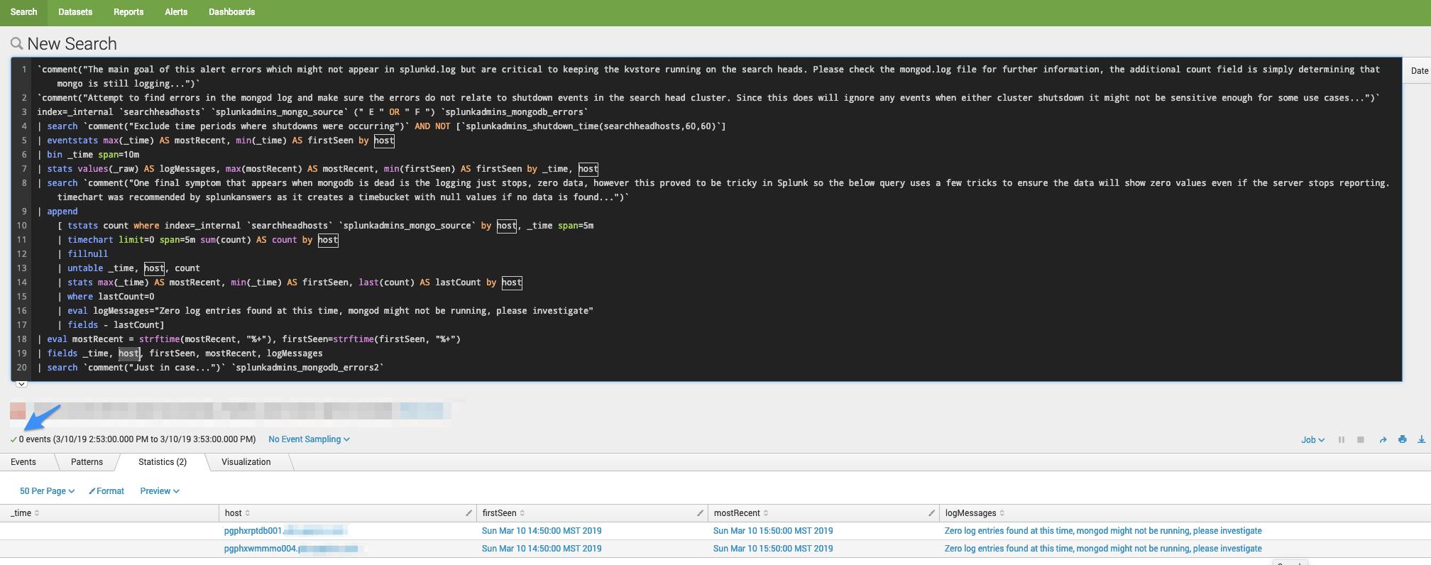 SearchHeadLevel - Detect MongoDB errors - Possible Bug