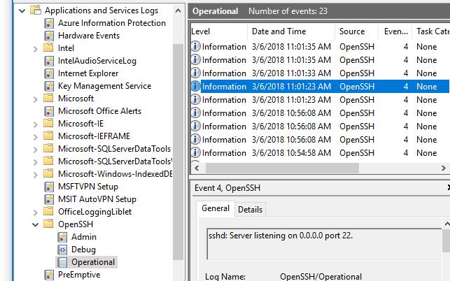 Logging Facilities · PowerShell/Win32-OpenSSH Wiki · GitHub