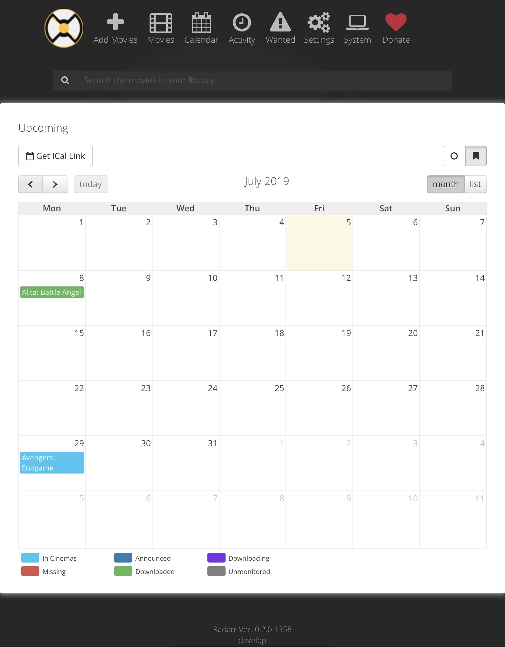 Calendar empty, import error? Database issue? · Issue #3601