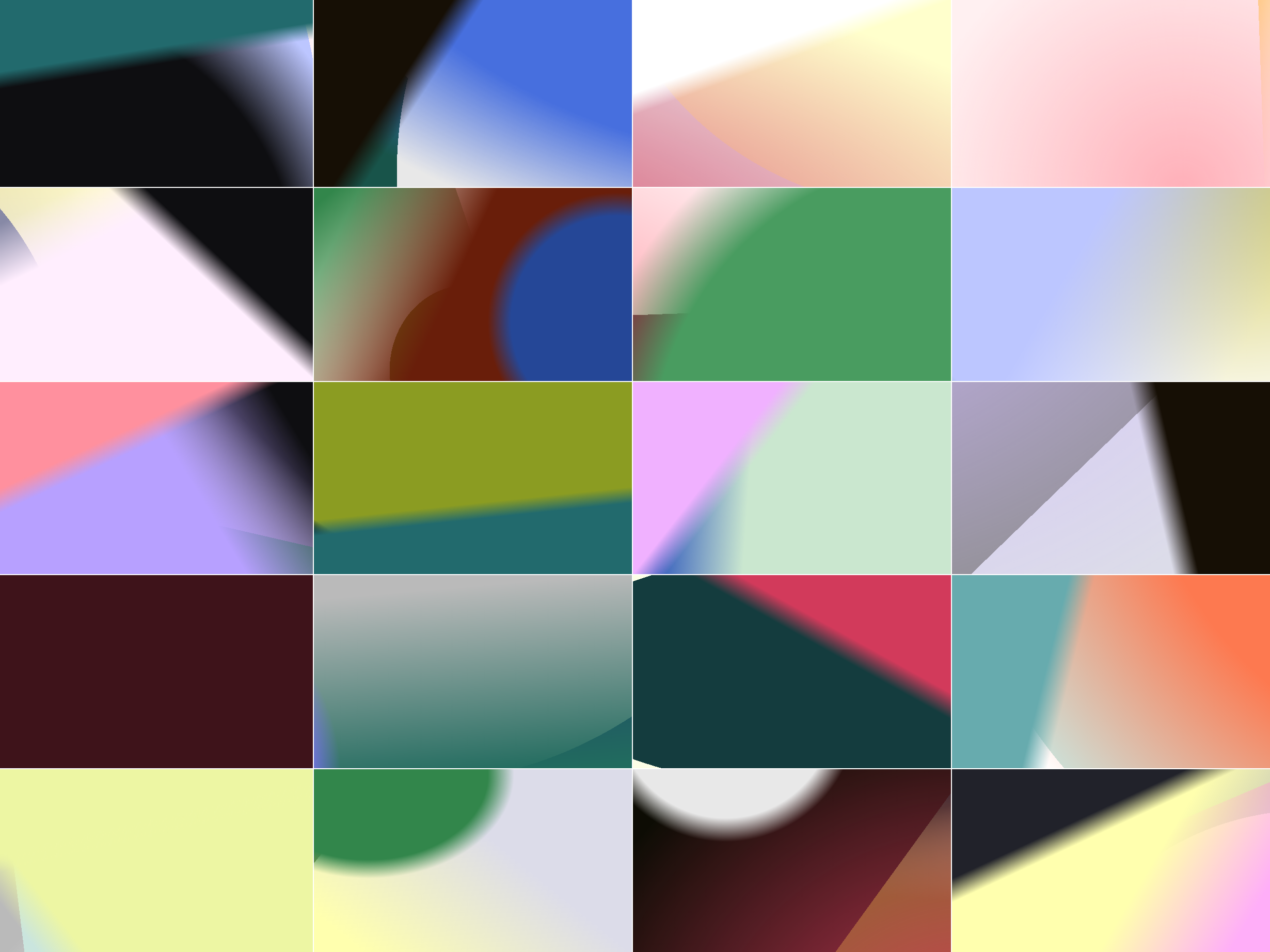 Gradient grid with close color stops