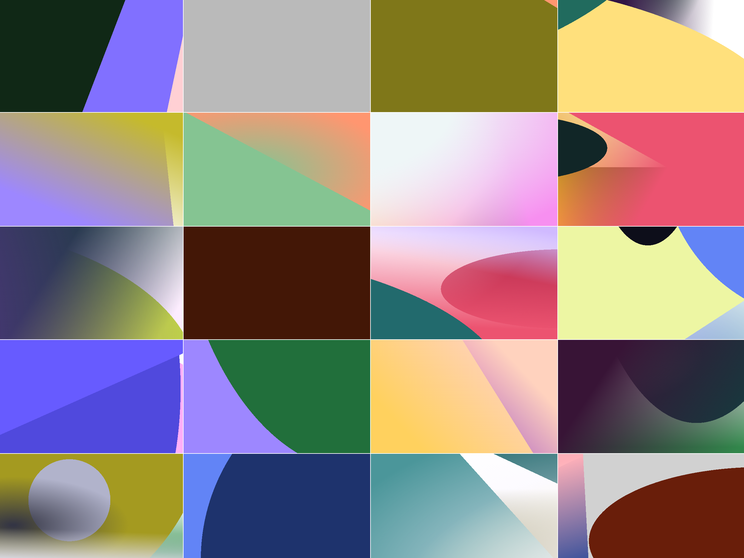 Gradient grid with new algorithm update