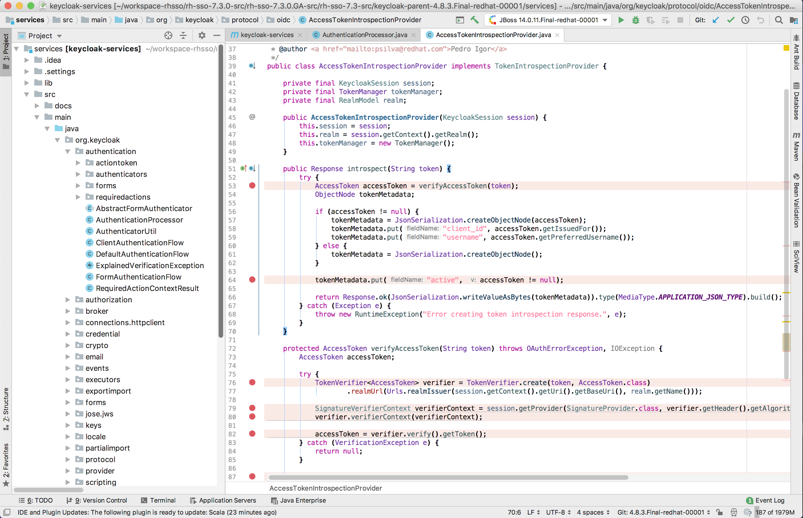 intellij remote debugging (working with 183-5912 21) · GitHub