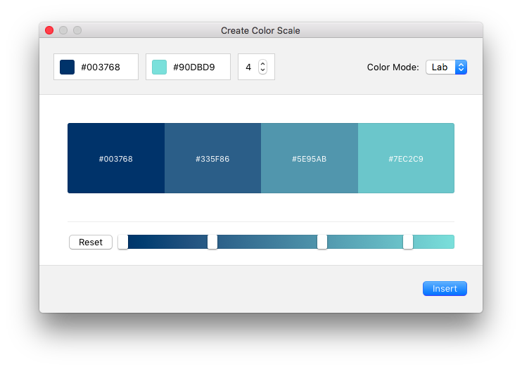 Create Color Scale