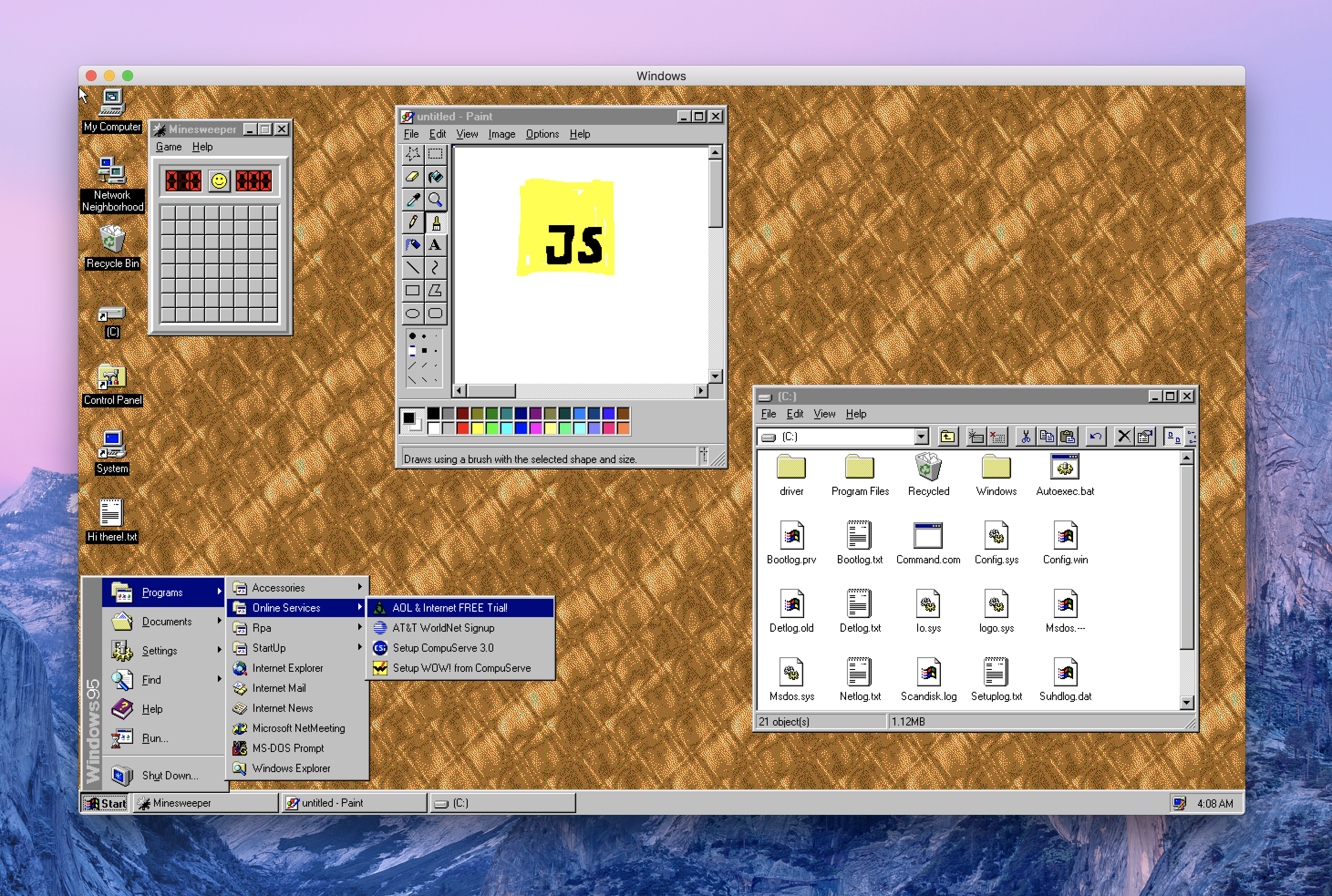 EmuCR: Windows95