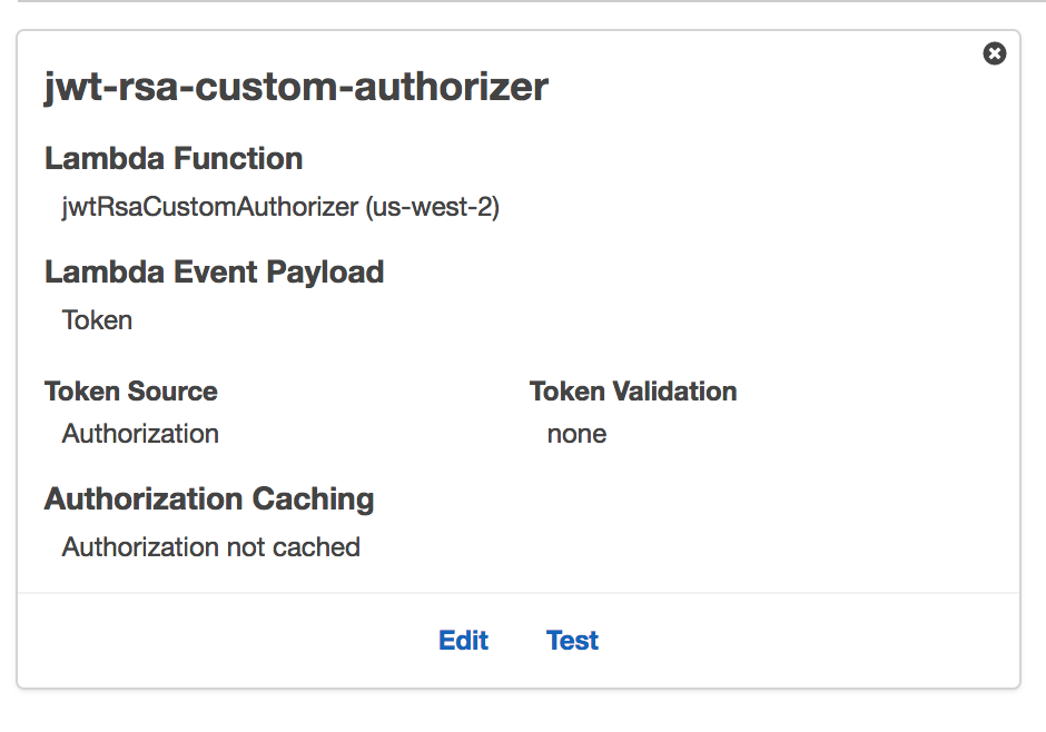 Missing token validation property from custom authorizer · Issue