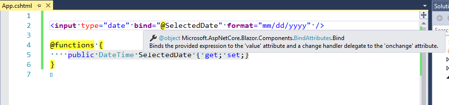 Add 'bind-   ' for two-way binding · Issue #409 · aspnet