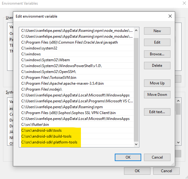 No valid Android SDK platforms found in C:\Android\android-sdk