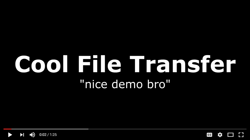 Awesome demo of Cool File Transfer