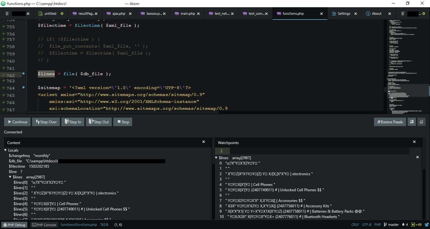 utf 8 language support issue 244 gwomacks php debug github