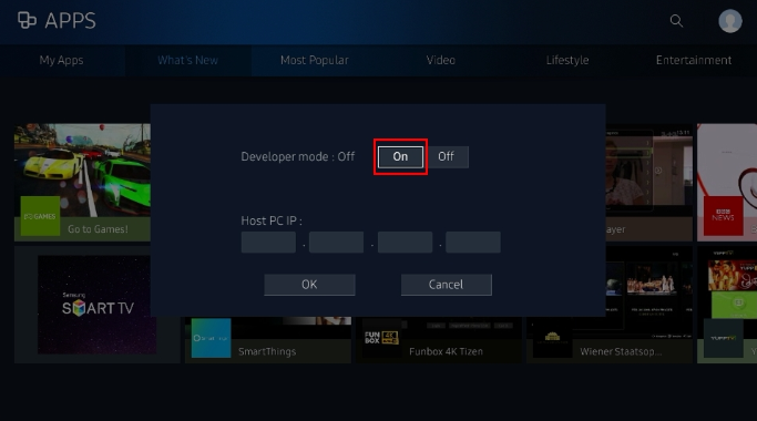 Launch Your  NET Application on Samsung Smart TV · Samsung/Tizen TV