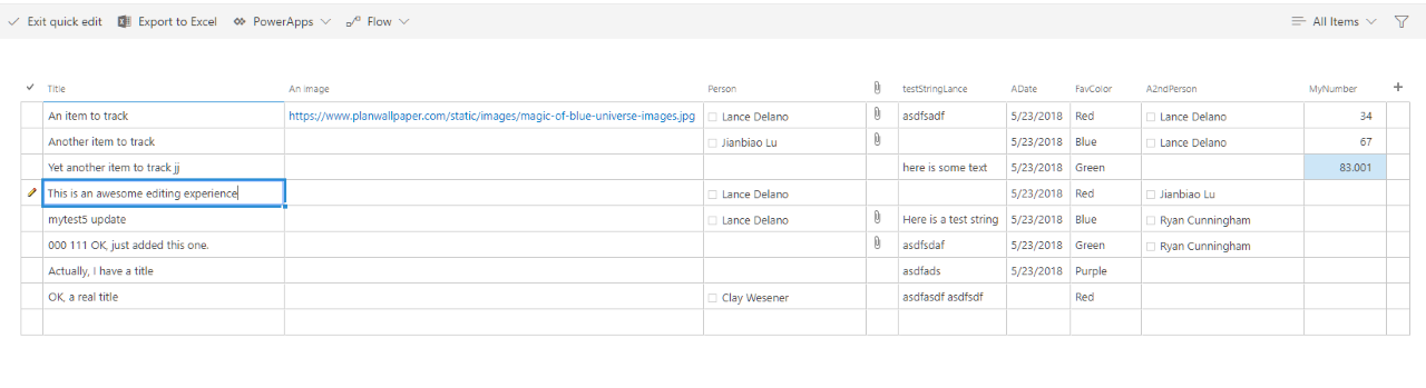 New Component: Editable Table · Issue #6840 · OfficeDev