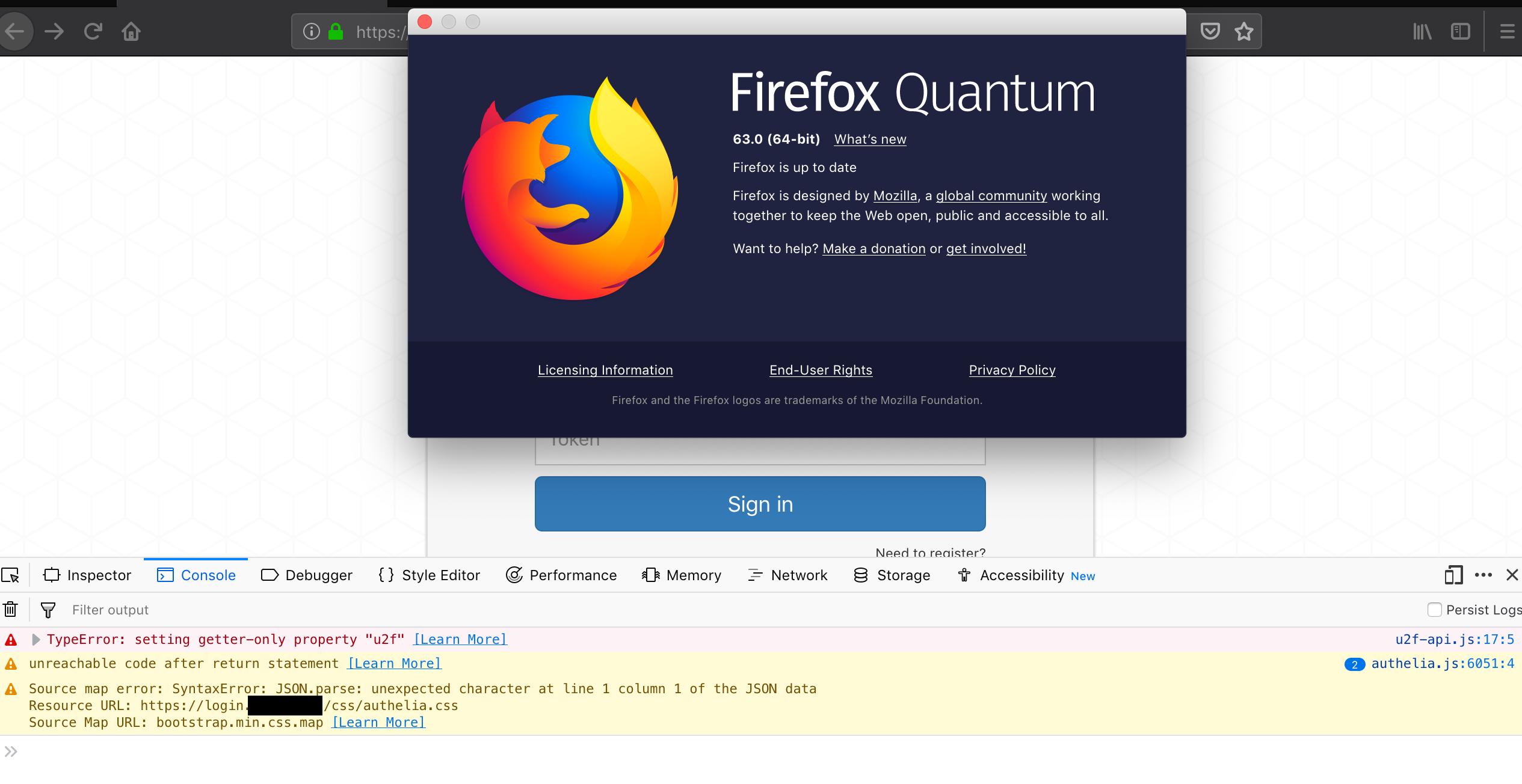 U2F is not working under Firefox 62 · Issue #277